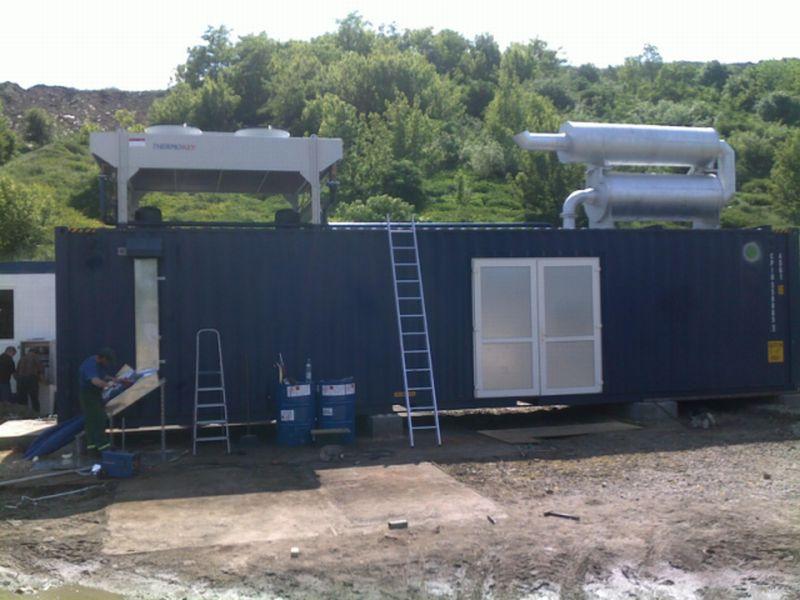 Prace modernizacyjne w elektrowni biogazowej Pruszków-Gąsin, 2008 r